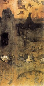 The Fall of the Rebel Angels by Hieronymus Bosch is based on Genesis 6:1-4